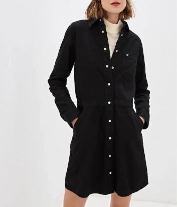 Джинсовое платье Calvin Klein Jeans J20J212780 на пуговицах черное