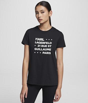 Футболка Karl Lagerfeld 201W1715 черная