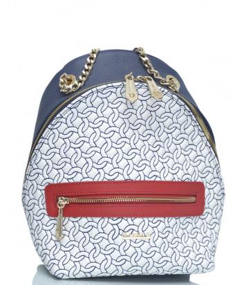 Кожаный рюкзак Marina Creazioni 4546 белый с цветным узором