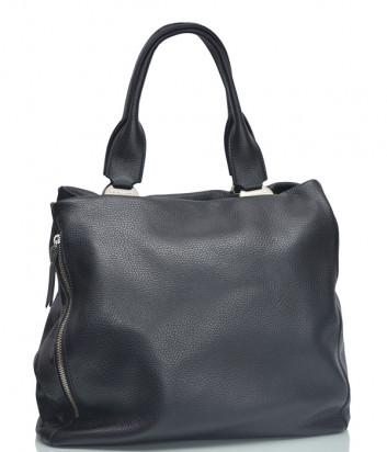 Кожаная сумка Di Gregorio 2785 черная