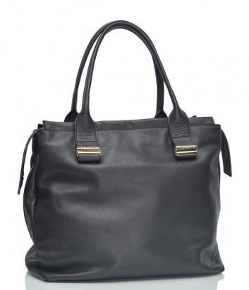Кожаная сумка Di Gregorio 1176 черная