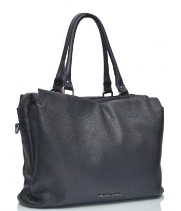 Кожаная сумка Di Gregorio 2801 черная