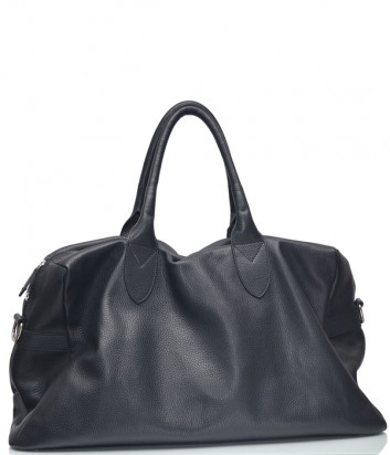 Вместительная кожаная сумка Di Gregorio 133 черная