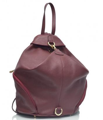 Кожаный рюкзак Di Gregorio 8507 бордовый