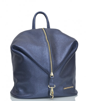 Кожаный рюкзак Di Gregorio 8539 синий