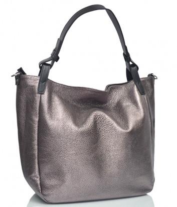 Кожаная сумка Gilda Tonelli 9386 серебристая