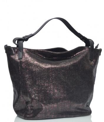 Кожаная сумка Gilda Tonelli 9386 бордовая