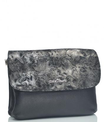 Кожаная сумка-клатч Gilda Tonelli 0150 черная