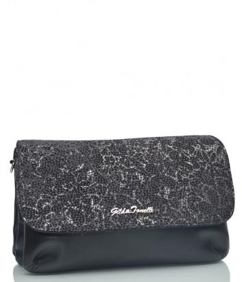 Кожаная сумка-клатч Gilda Tonelli 0148 черная