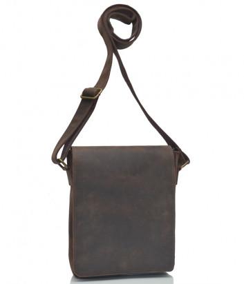 Кожаная сумка через плечо Vera Pelle 16590 коричневая