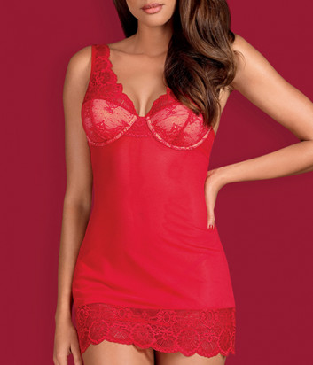 Комплект Obsessive 853-CHE-3 chemise красный