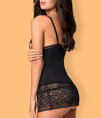 Комплект Obsessive Ailay chemise черный