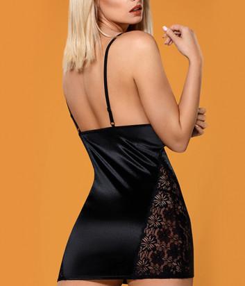 Комплект Obsessive 846-CHE-1 chemise черный