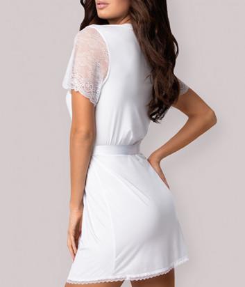 Комплект Obsessive Miamor robe белый