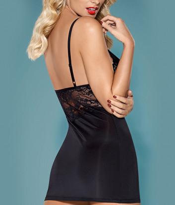Комплект Obsessive 810-CHE-1 chemise черный