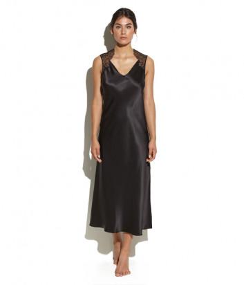 Длинная шелковая сорочка Luna di Seta L6N5026 черная