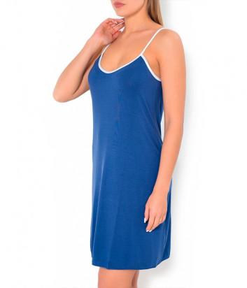 Сорочка Luna di Seta L6C3070 синяя