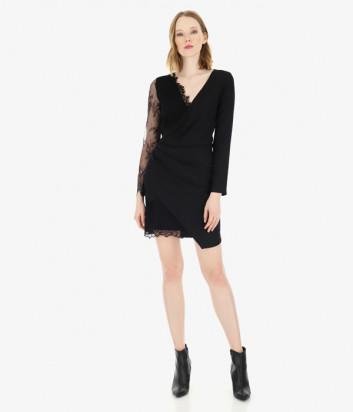 Платье Imperial AAJZYED с кружевными вставками черное