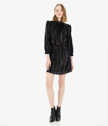 Сверкающее мини-платье Imperial AAKXYZY черное