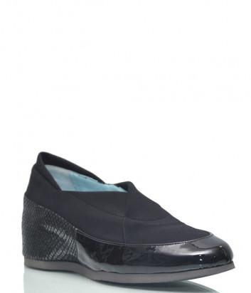 Лаковые туфли Thierry Rabotin 768 с текстильными вставками