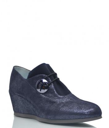 Кожаные туфли Thierry Rabotin 2010 с лазерной обработкой синие