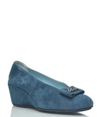 Замшевые туфли Thierry Rabotin 2069 бирюзовые