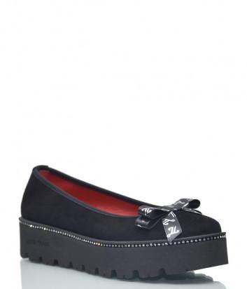 Замшевые туфли Luigi Traini 2000 черные
