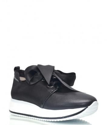 Кожаные кроссовки DiGiada 1020 черные