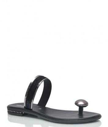 Кожаные пантолеты Nila & Nila 1911 черные с декором