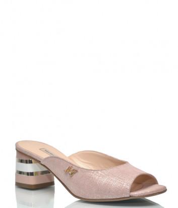 Замшевые мюли Marino Fabiani 3281 розовые