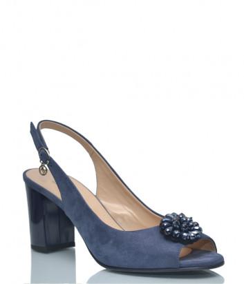 Замшевые босоножки Marino Fabiani 3531 синие