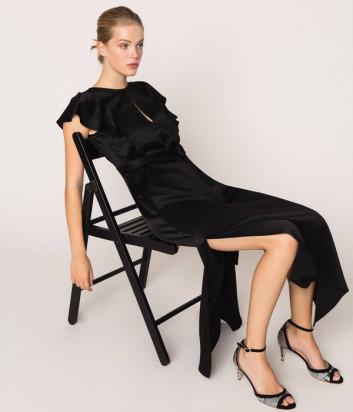 Длинное платье TWIN-SET 201TP2284 черное