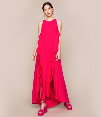 Длинное платье TWIN-SET 201TP2434 малиновое