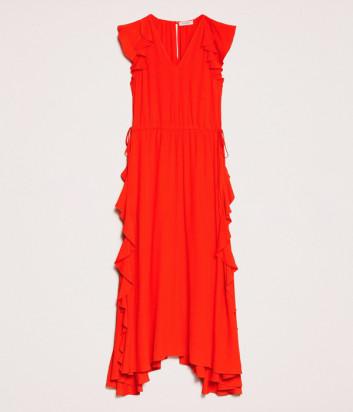 Длинное платье TWIN-SET 201TP250D оранжевое