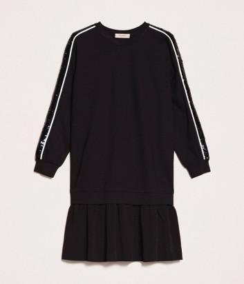 Трикотажное платье TWIN-SET 201TP2290 с лампасами расшитыми пайетками