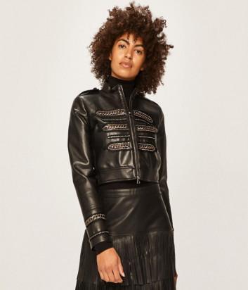 Кожаная куртка PINKO 1B13X9 черная
