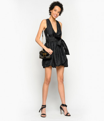 Платье PINKO 1B14DR с глубоким вырезом черное