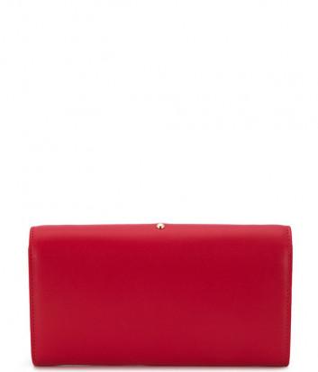 Кожаная сумка-клатч PINKO Love Bag 1P21KV красная с золотой фурнитурой