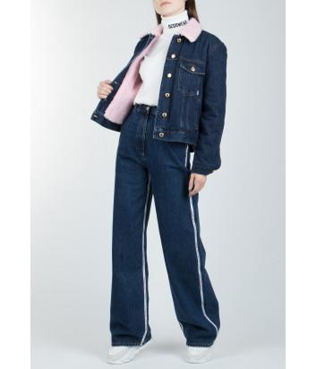 Расклешенные джинсы GCDS FW20W030053 с завышенной талией синие