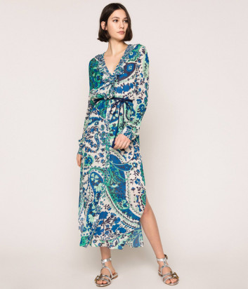 Платье TWIN-SET 201TP2533 с узором пейсли