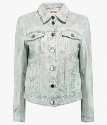 Кожаная куртка PINKO 1G14LH Y5YF с эффектом денима