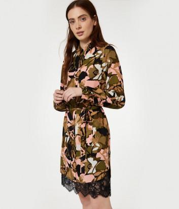 Платье Liu Jo WA0055T9147 с принтом и кружевом по низу