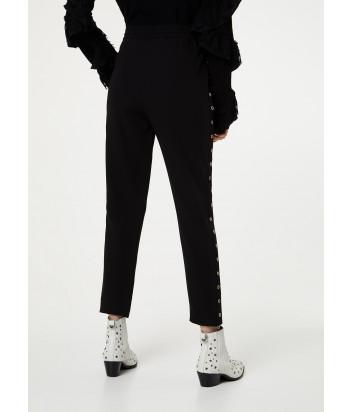 Черные брюки-джоггеры Liu Jo WA0169T7982 декорированные заклепками
