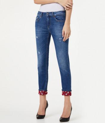 Укороченные джинсы Liu Jo UA0006D4436 с принтованным отворотом