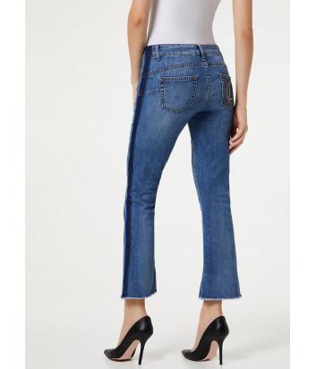 Укороченные джинсы клеш Liu Jo UA0022D3105 с лампасами синие