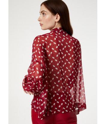 Красная принтованная блуза Liu Jo WA0267T4147 с бантиком