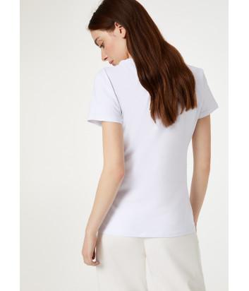 Белая футболка Liu Jo WA0307J5003 с принтом и аппликациями