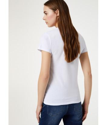 Белая футболка Liu Jo WA0340J0094 с красным рисунком