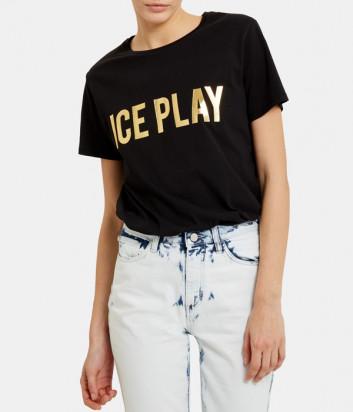 Футболка ICE PLAY F026P430 с золотым лого черная