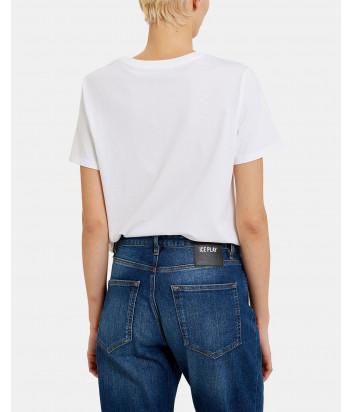 Белая футболка ICE PLAY F021P430 с принтом